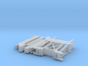 HO Outrigger A-Frame Large Frame Mounted 2 in Smooth Fine Detail Plastic