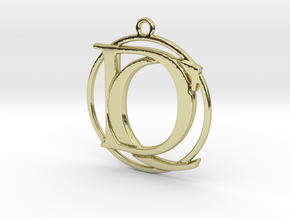Initials C&D monogram in 18k Gold Plated Brass
