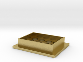 Foot for IKEA IVAR shelving unit in Natural Brass