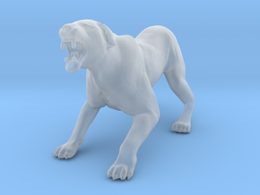 Lion 1:29 Aggressive Lioness in Smooth Fine Detail Plastic
