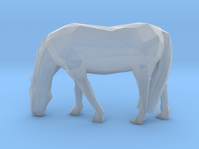 Low Poly Grazing Horse in Smooth Fine Detail Plastic