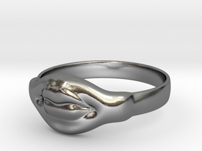 Doll mouth ring in Polished Silver: 8 / 56.75