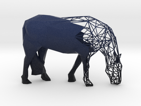 Semiwire Low Poly Grazing Horse in Natural Full Color Sandstone