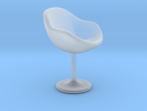 Miniature ZC-080 Barstool in Smooth Fine Detail Plastic: 1:12