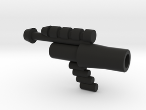 Lobros Gun with 3mm Hole in Black Natural Versatile Plastic
