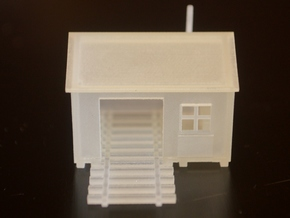 N-Scale Speeder Shed in Smooth Fine Detail Plastic