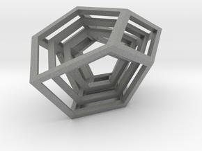 Encompassing Shard - Pendant in Gray PA12