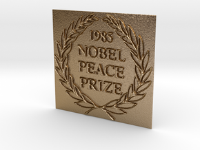 The 1985 Peace Nobel Prize in Polished Gold Steel: Extra Small