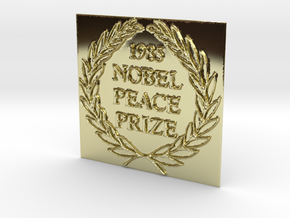 The 1985 Peace Nobel Prize in 18K Yellow Gold: Extra Small