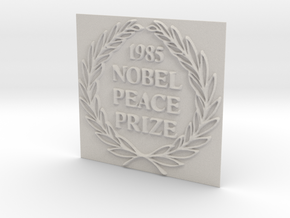 The 1985 Peace Nobel Prize in Matte Full Color Sandstone: Extra Small