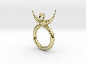 Horned GOD Druid Wicca Pendnt in 18K Yellow Gold