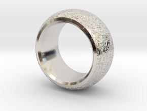 mojomojo - Flower Vine modern ring design 1A in Rhodium Plated Brass