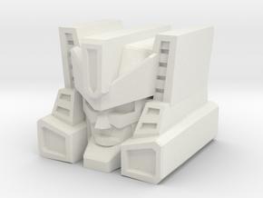 Brushguard Head for TR Brawn/PotP Outback in White Natural Versatile Plastic: Medium
