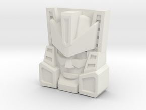 Brushguard Face (Titans Return/PoTP) in White Natural Versatile Plastic