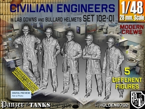 1/48 Engineers Set102-01 in Smooth Fine Detail Plastic