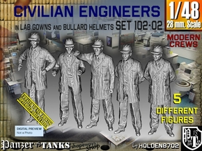 1/48 Engineers Set102-02 in Smooth Fine Detail Plastic
