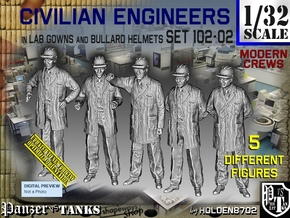 1/32 Engineers Set102-02 in Smooth Fine Detail Plastic