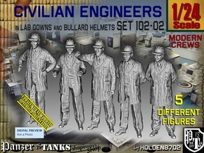1/24 Engineers Set102-02 in White Natural Versatile Plastic