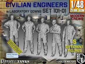 1/48 Engineers Set101-01 in Smooth Fine Detail Plastic