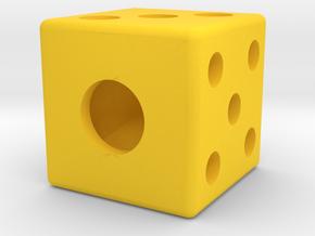 die segmented interior balanced straight edges in Yellow Processed Versatile Plastic: Medium