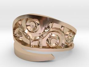 Emboss Ring -1 in 14k Rose Gold Plated Brass