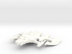 Lorrzai Starship Rocketzone in White Processed Versatile Plastic