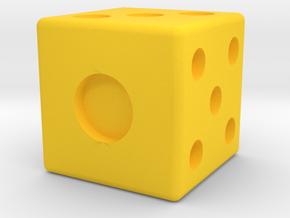 die solid interior balanced straight edges in Yellow Processed Versatile Plastic: Medium