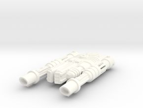 Frawgarrian Starship Rocketzone in White Processed Versatile Plastic