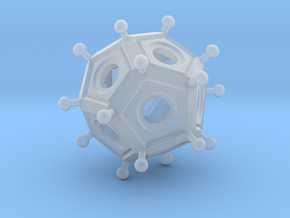 Roman Dodecahedron  in Smooth Fine Detail Plastic