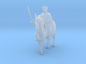 1-87 medieval king in Smooth Fine Detail Plastic