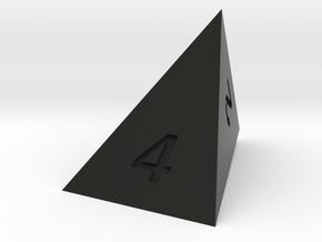 wedge d4 in Black Natural Versatile Plastic