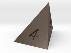 wedge d4 in Polished Bronzed-Silver Steel