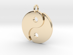 Ying Yang Pendant in 14k Gold Plated Brass
