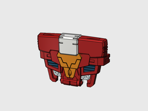 Sparky chest plate for POTP Inferno in White Processed Versatile Plastic