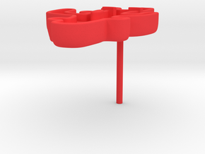Funny Coral Earring in Red Processed Versatile Plastic
