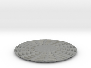 coaster pinwheel round personalize top back in Gray Professional Plastic