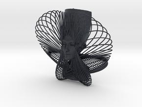 Enneper Curve Art + Nefertiti (001b) in Black Professional Plastic