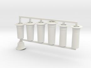 G1 - 10mm - FR E1 - J1 - D1- Full Chimney Pack in White Natural Versatile Plastic