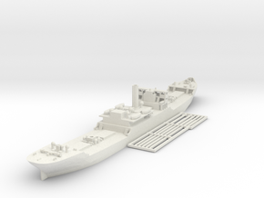 EFC 1013 WW1 freighter Various Scales in White Natural Versatile Plastic: 1:350