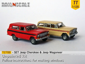 SET Jeep Cherokee & Jeep Wagoneer (TT 1:120) in Smooth Fine Detail Plastic