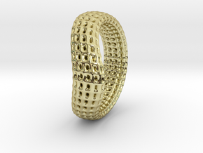 torus wireframe RING 03StackHoles in 18k Gold Plated Brass