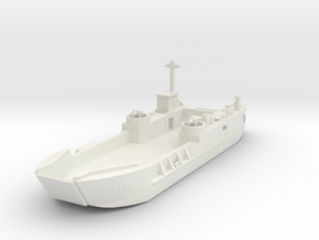 1/700 LCT6 full hull in White Natural Versatile Plastic