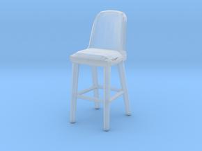 Miniature Afra Meka One Barstool - Afra Furniture in Smooth Fine Detail Plastic: 1:12