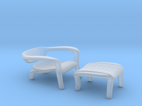 Miniature ICONA Lounge Chair - İsmet Cevik in Smooth Fine Detail Plastic: 1:12