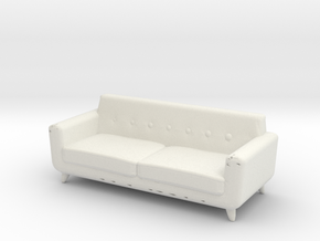 Miniature Noah Sofa - Rove Concept in White Natural Versatile Plastic: 1:12