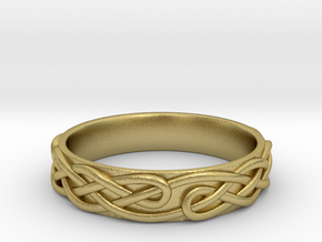Ornament ring 1 in Natural Brass: 5.5 / 50.25
