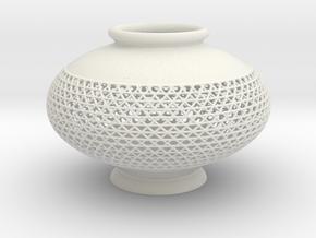 Vase 1005B in White Natural Versatile Plastic