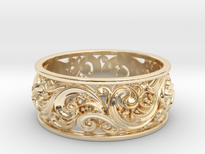 Ornament ring 2 in 14k Gold Plated Brass: 6.5 / 52.75