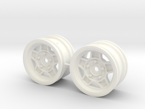 M-Chassis Wheels - NSU-TT ATS Style - +1mm Offset in White Processed Versatile Plastic