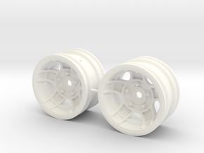 M-Chassis Wheels - NSU-TT ATS Style - +6mm Offset in White Processed Versatile Plastic